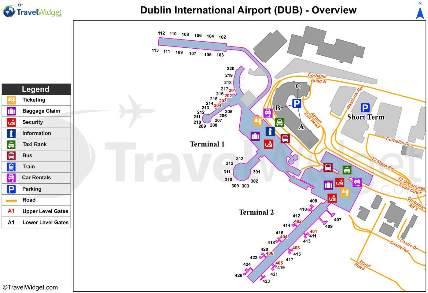 Dublin airport parking map Dublin airport car park map Ireland