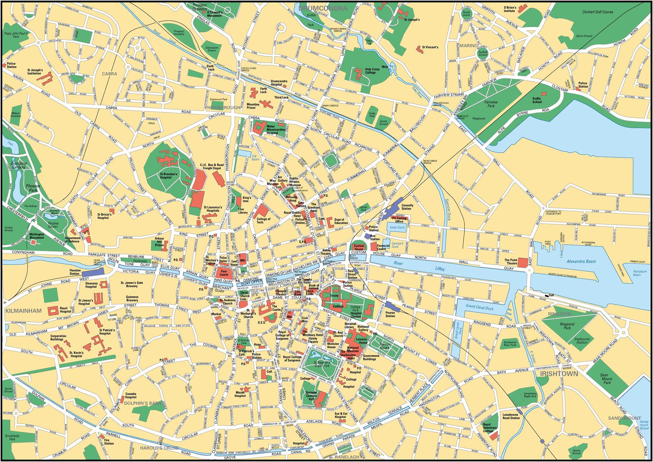 Dublin Map Dublin On A Map Ireland - Ireland map download