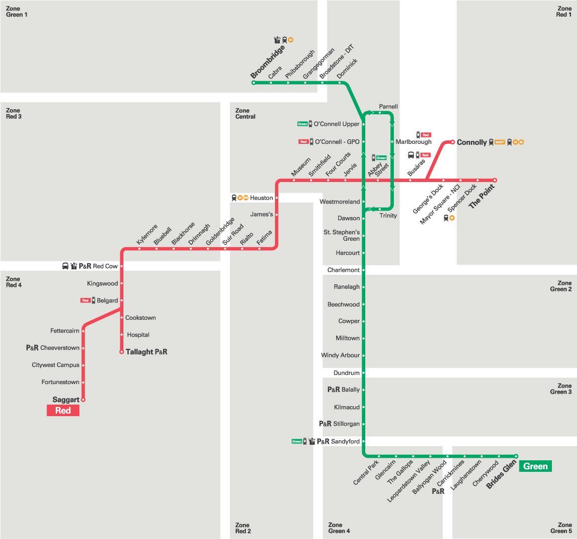 map of luas green line. luas green line map  map of luas green line (ireland)