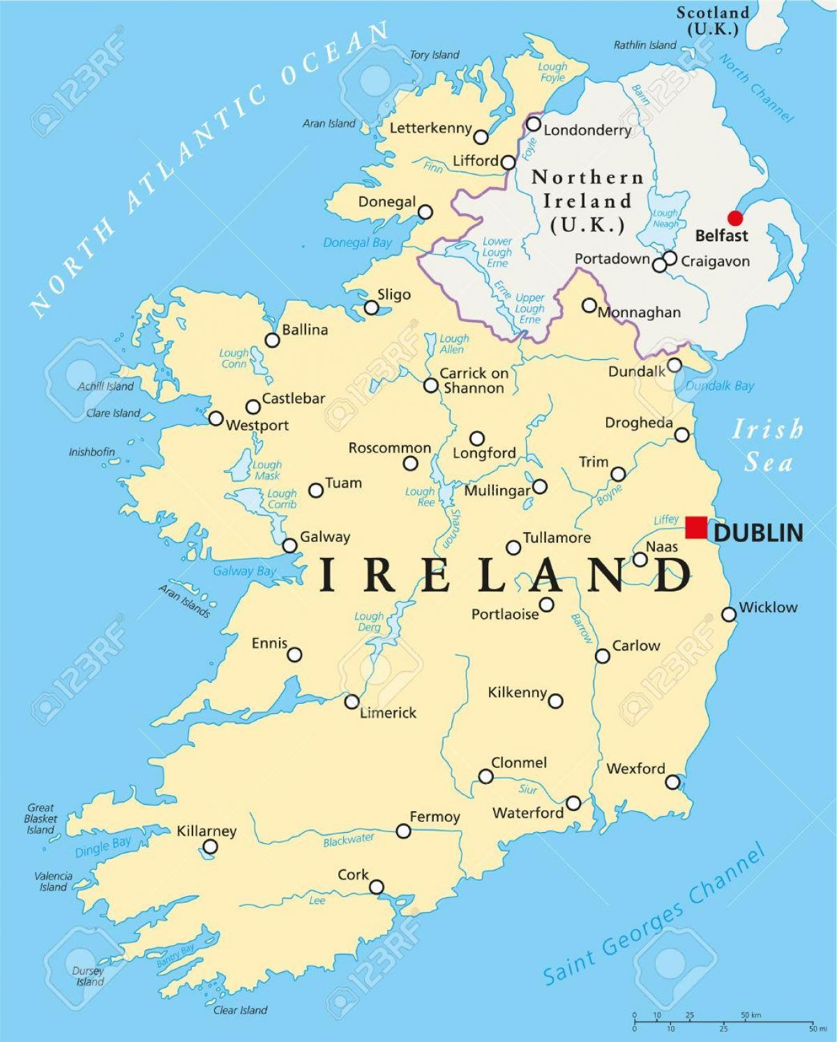 Dublin Ireland Map Dublin Map Ireland Ireland - Map of ireland
