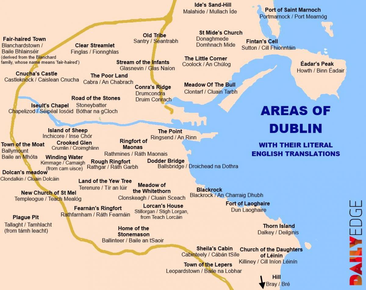 Maps Of Dublin Suburbs.Dublin Suburbs Map Map Of Dublin Suburbs Ireland
