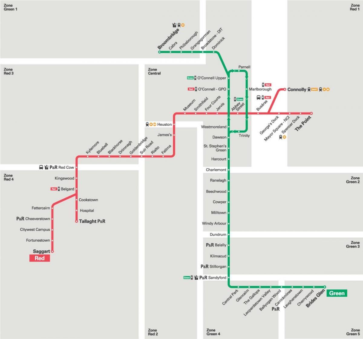luas line map. luas map dublin  luas line map (ireland)