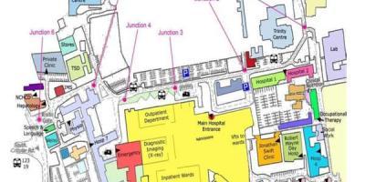 St James hospital map - St James hospital Dublin map (Ireland) on